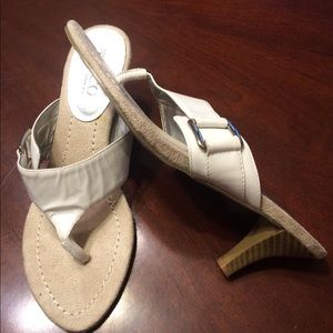 White Sandals by Nine West